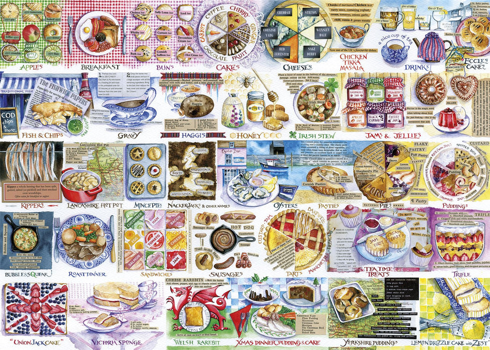 Gibsons Pork Pies & Puddings 1000 piece Jigsaw Puzzle