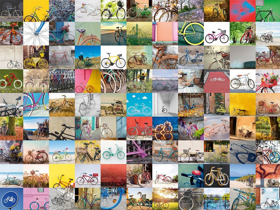 99 Bicycles 1500 Piece Jigsaw Puzzle