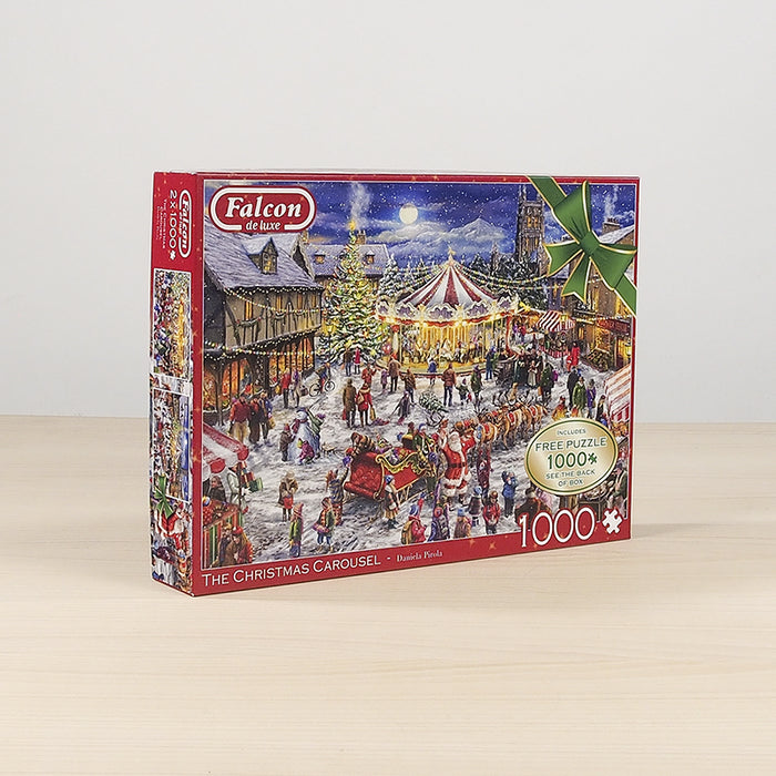 Falcon de Luxe 'The Christmas Carousel' Limited Edition 2 x 1000 Piece Jigsaw Puzzle 3
