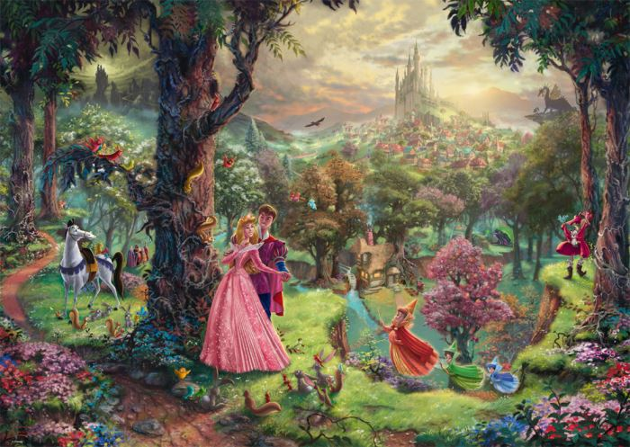 Thomas Kinkade - Disney Sleeping Beauty 1000 Pieces