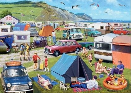 Leisure Days No 5 Camping & Caravanning 1000 Piece Jigsaw