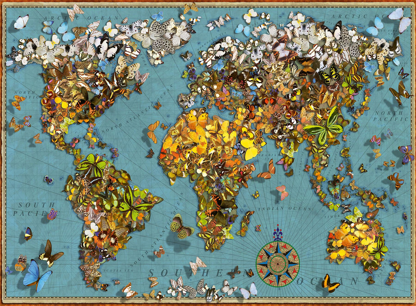 World of Butterflies 500 Piece Jigsaw Puzzle