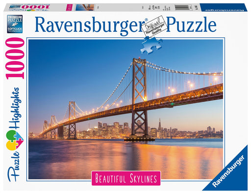 Ravensburger Beautiful Skylines - Golden Gate Bridge, 1000 Piece Jigsaw Puzzle