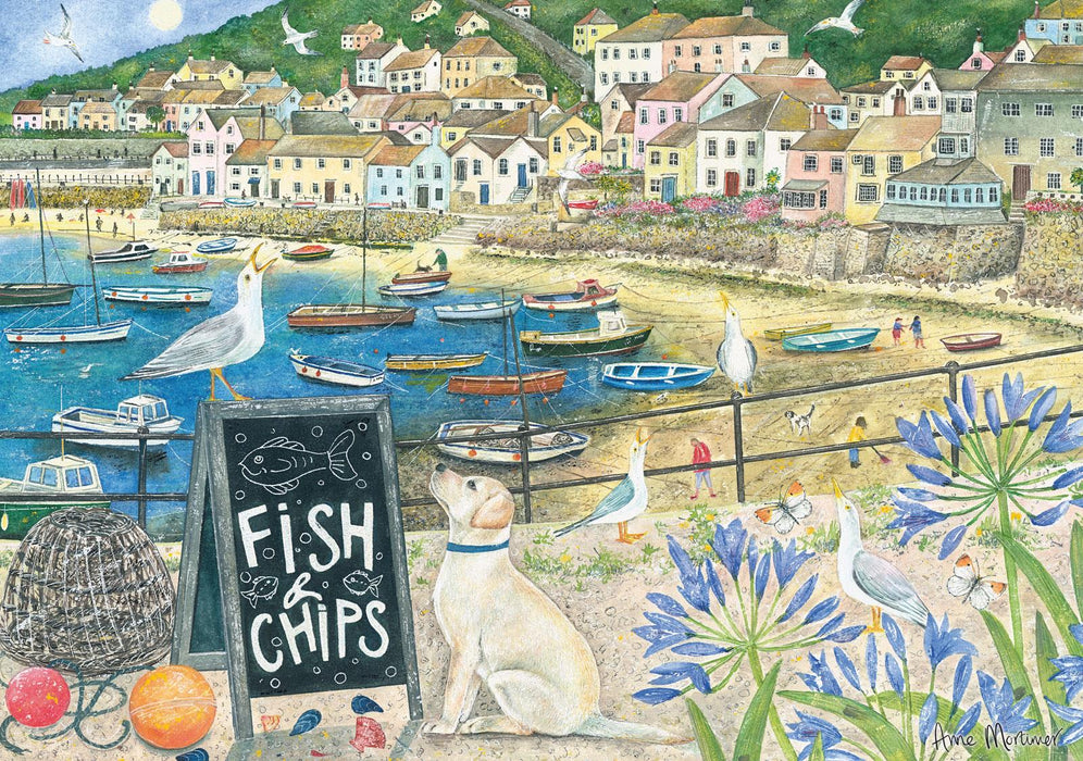 Fish and Chips 1000 Piece Jigsaw Puzzle