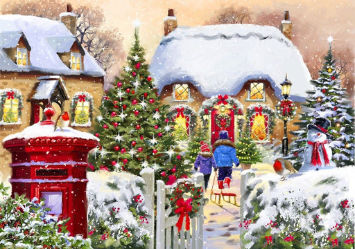 Winter Cottage 1000 Piece Jigsaw Puzzle