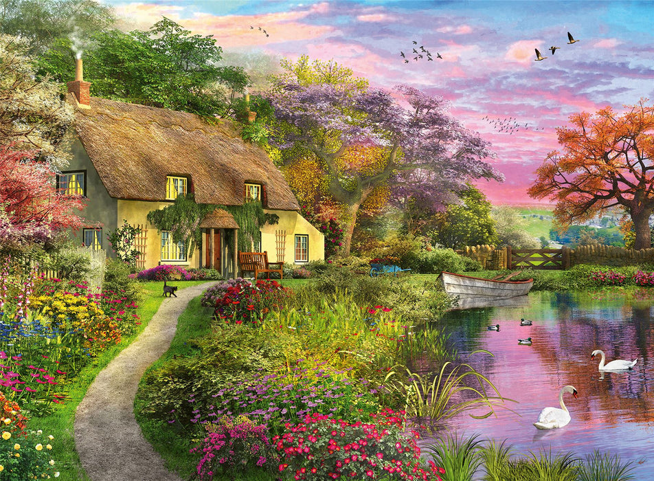 Romantic Cottage 500 Piece Jigsaw Puzzle 500 Piece Jigsaw Puzzle