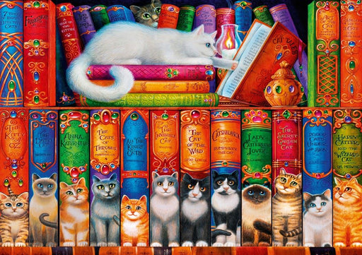 Cat Bookshelf 1000 Piece Jigsaw Puzzle