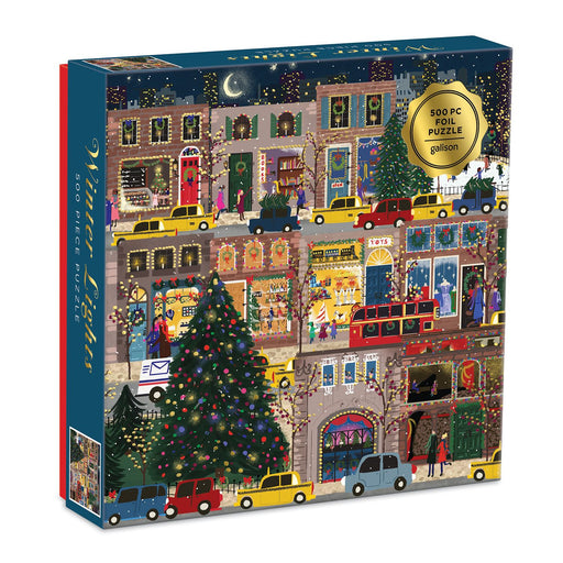 Winter Lights Foil Puzzle 500 Piece Jigsaw Puzzle box