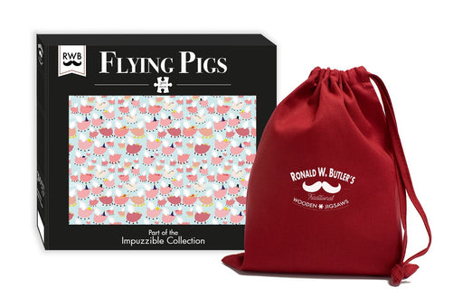 Flying Pigs - Impuzzible - 300 Piece Wooden Jigsaw Puzzle