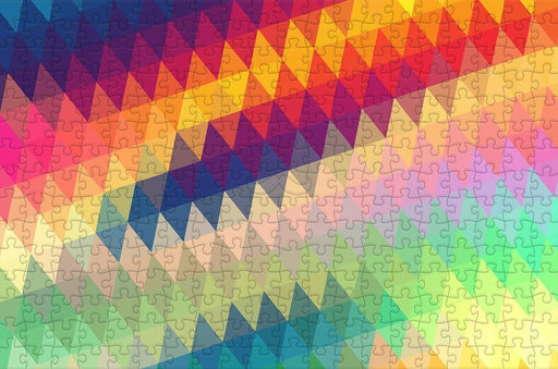 Geometric Rainbow - Impuzzible - 300 Piece Wooden Jigsaw Puzzle