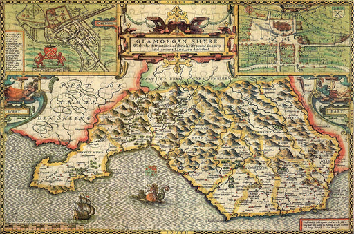Glamorgan 1610 Historical Map 300 Piece Wooden Jigsaw Puzzle