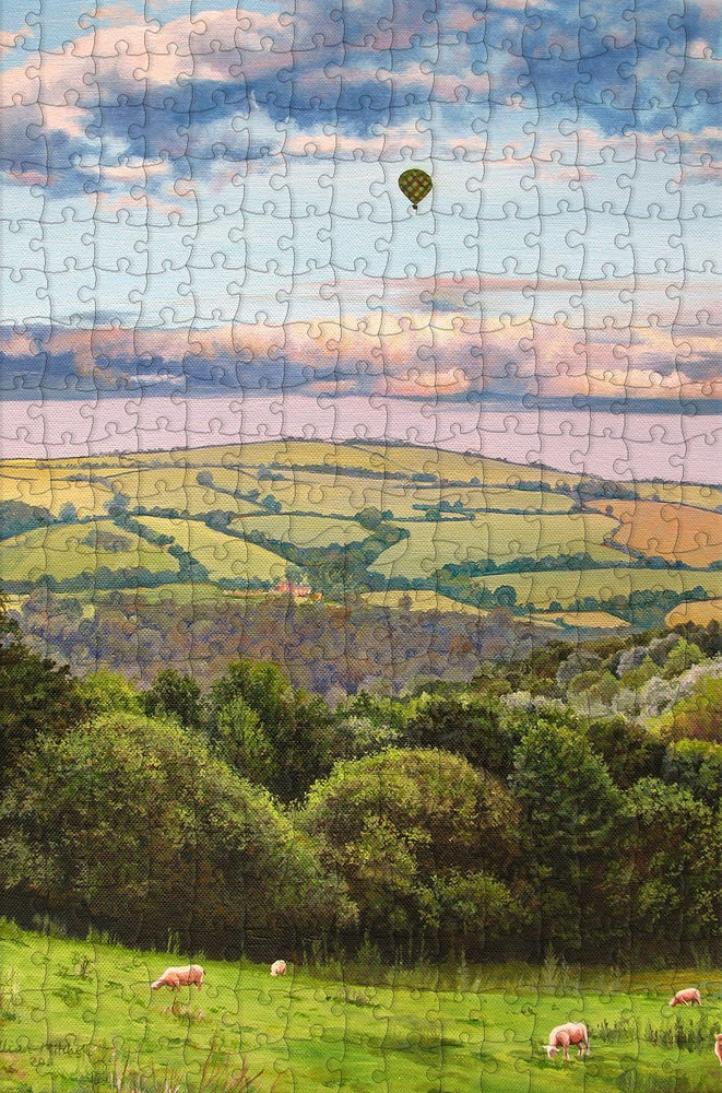 Hot Air Balloon 300 Piece Wooden Jigsaw Puzzle