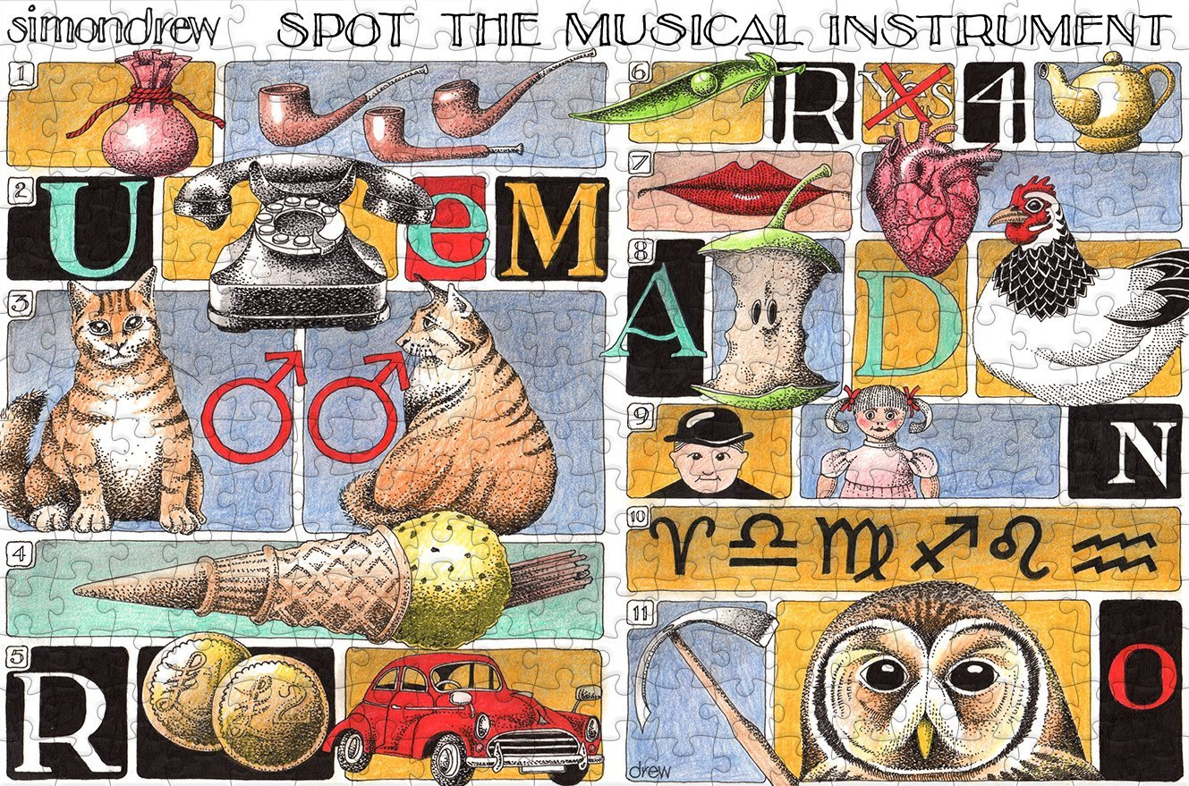 Spot the Musical Instrument by Simon Drew