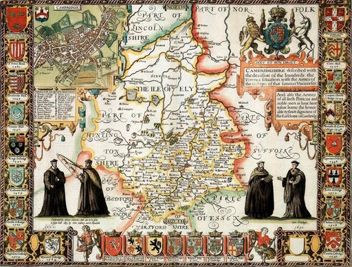Cambridgeshire Historical Map 1000 Piece Jigsaw Puzzle (1610) - All Jigsaw Puzzles UK  - 1