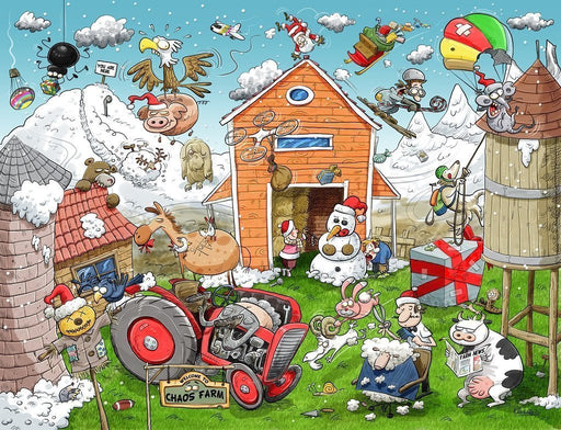 Jigsaw Puzzle - Christmas At Chaos Farm 1000 Or 500 Piece Jigsaw Puzzle