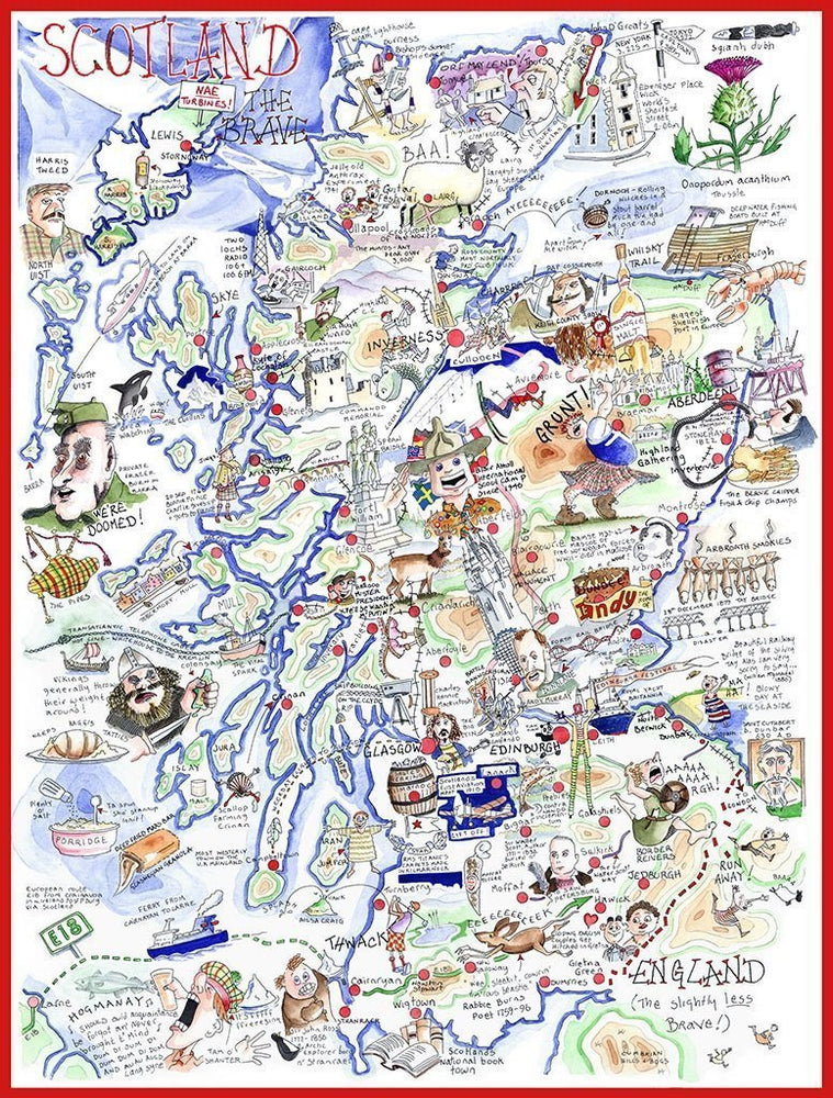 Jigsaw Puzzle - Comical Map Of Scotland - Tim Bulmer 1000 Piece Jigsaw Puzzle