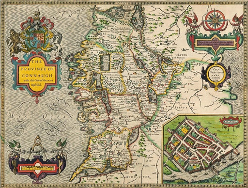 Connaugh Historical Map 1000 Piece Jigsaw Puzzle (1610) - All Jigsaw Puzzles UK  - 1