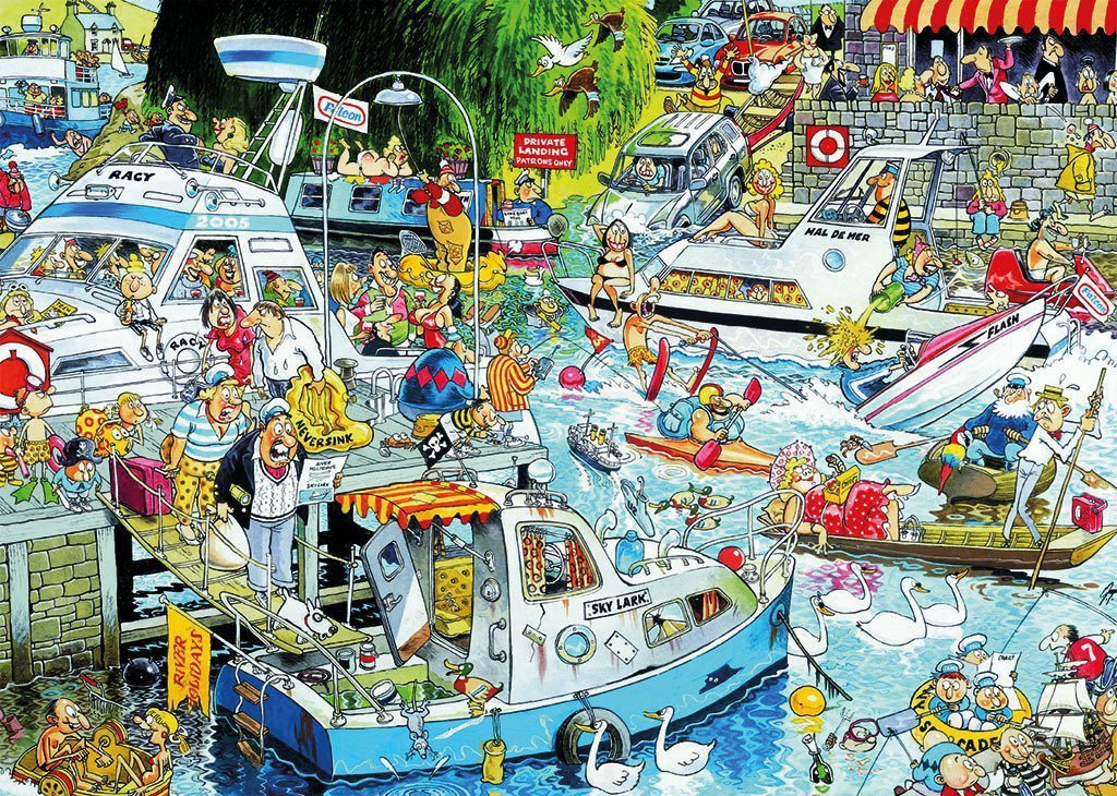 Cruise Chaos 1000 Piece Jigsaw Puzzle
