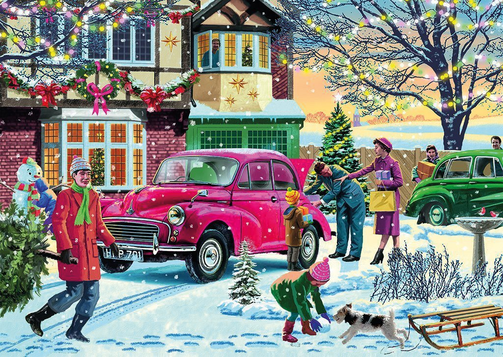 December Shopping 500 piece Jigsaw Puzzle
