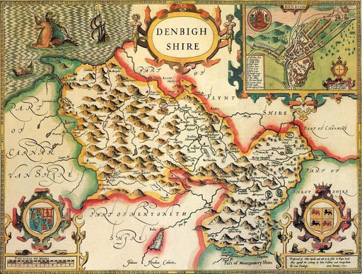Denbighshire Historical Map 1000 Piece Jigsaw Puzzle (1610) - All Jigsaw Puzzles UK - 1