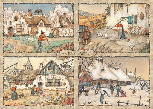 Jigsaw Puzzle - Four Seasons  - Anton Pieck 1000 Piece Jigsaw Puzzle