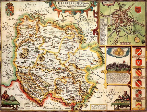 Herefordshire Historical Map 1000 Piece Jigsaw Puzzle (1610) - All Jigsaw Puzzles UK  - 1