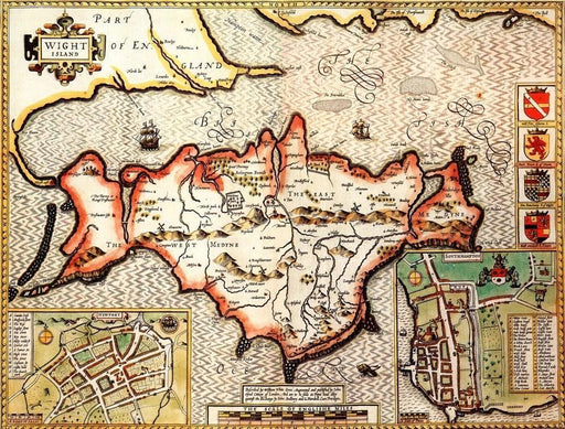 Isle of Wight Historical Map 1000 Piece Jigsaw Puzzle (1610) - All Jigsaw Puzzles UK  - 1