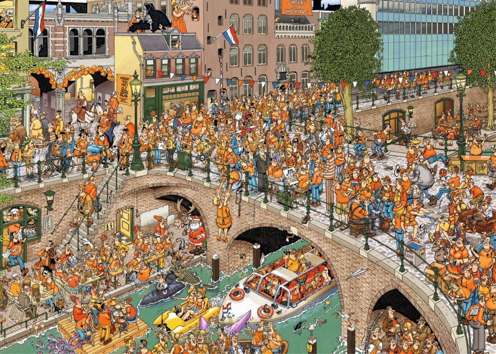 Jigsaw Puzzle - Jan Van Haasteren Kings Day 1000 Piece Jigsaw Puzzle