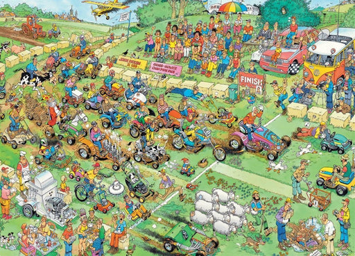 Jan van Haasteren Lawn Mower Race 1000 Piece Jigsaw Puzzle - All Jigsaw Puzzles UK  - 1