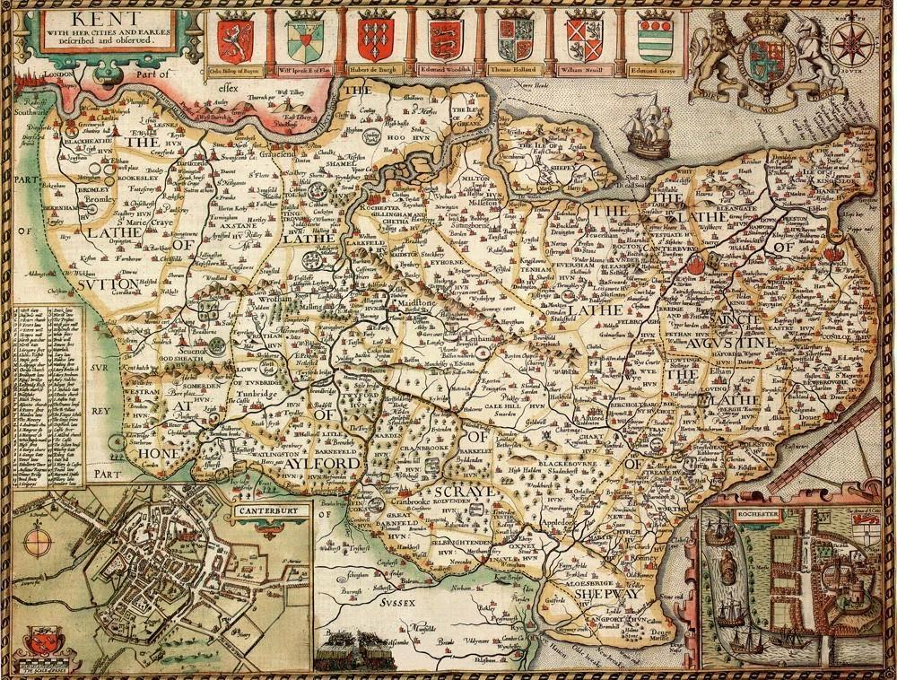 Kent Historical Map 1000 Piece Jigsaw Puzzle (1610) - All Jigsaw Puzzles UK  - 1
