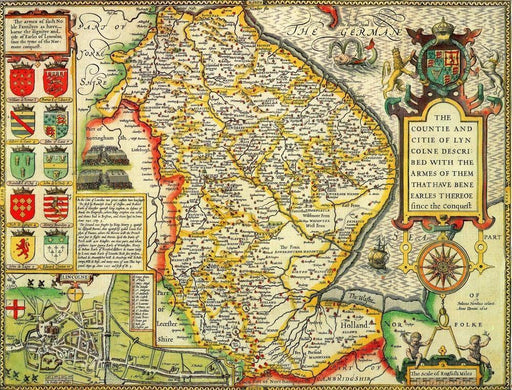 Lincolnshire Historical Map 1000 Piece Jigsaw Puzzle (1610) - All Jigsaw Puzzles UK  - 1