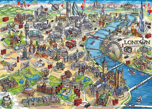 London Landmarks 1000 Piece Jigsaw Puzzle - All Jigsaw Puzzles UK  - 1