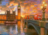 Jigsaw Puzzle - London - Westminster Sunset, 1000 Piece Jigsaw Puzzle