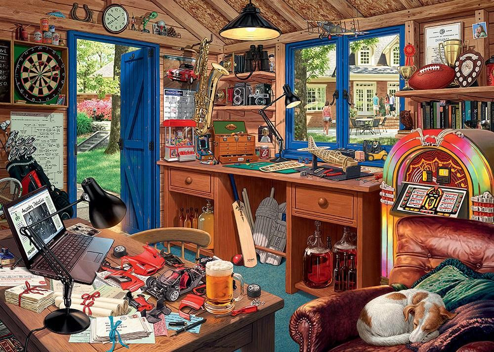 My Haven No 2, The Man Cave 1000 Piece Jigsaw Puzzle