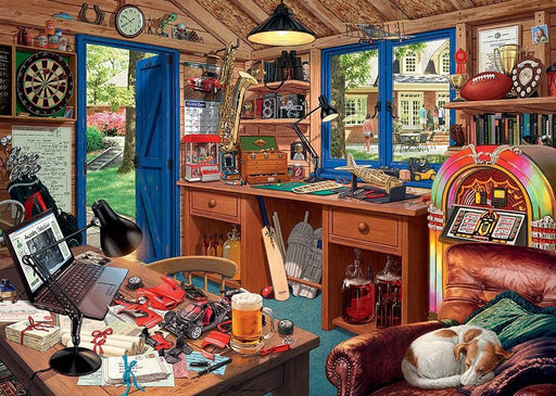 My Haven No 2, The Man Cave 1000 Piece Jigsaw Puzzle - All Jigsaw Puzzles UK  - 1
