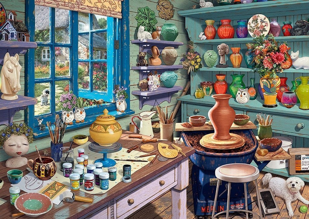 Jigsaw Puzzle - My Haven No 3. The Pottery Shed 1000 Piece Jigsaw Puzzle