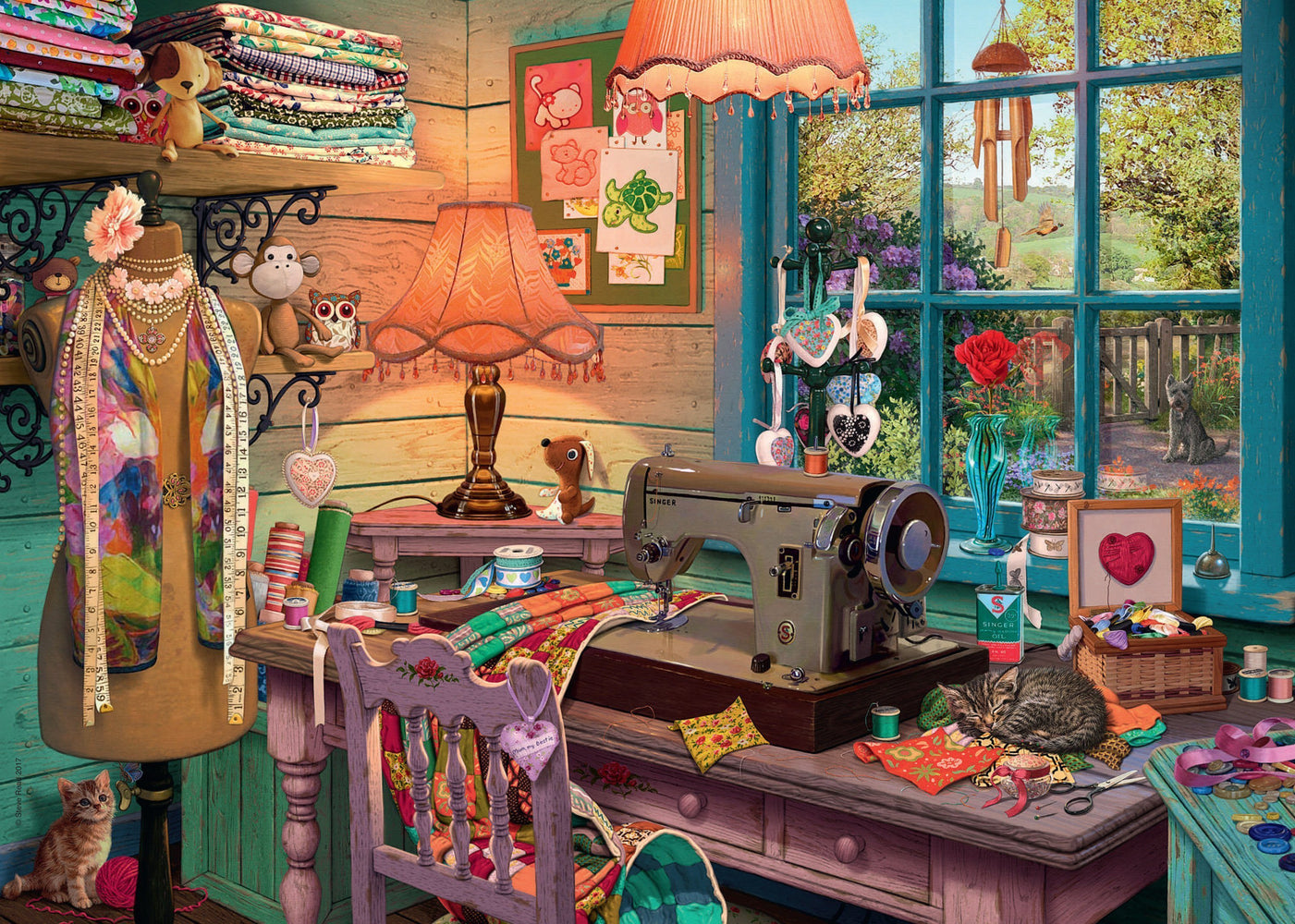 Jigsaw Puzzle - My Haven No 4 The Sewing Shed 1000 Piece Jigsaw Puzzle