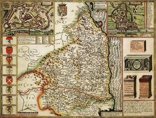 Northumberland Historical Map 1000 Piece Jigsaw Puzzle (1610) - All Jigsaw Puzzles UK  - 1