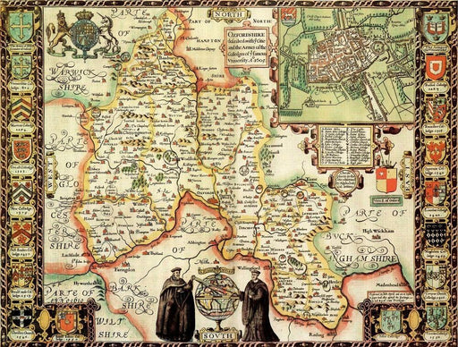Oxfordshire Historical Map 1000 Piece Jigsaw Puzzle (1610) - All Jigsaw Puzzles UK  - 1