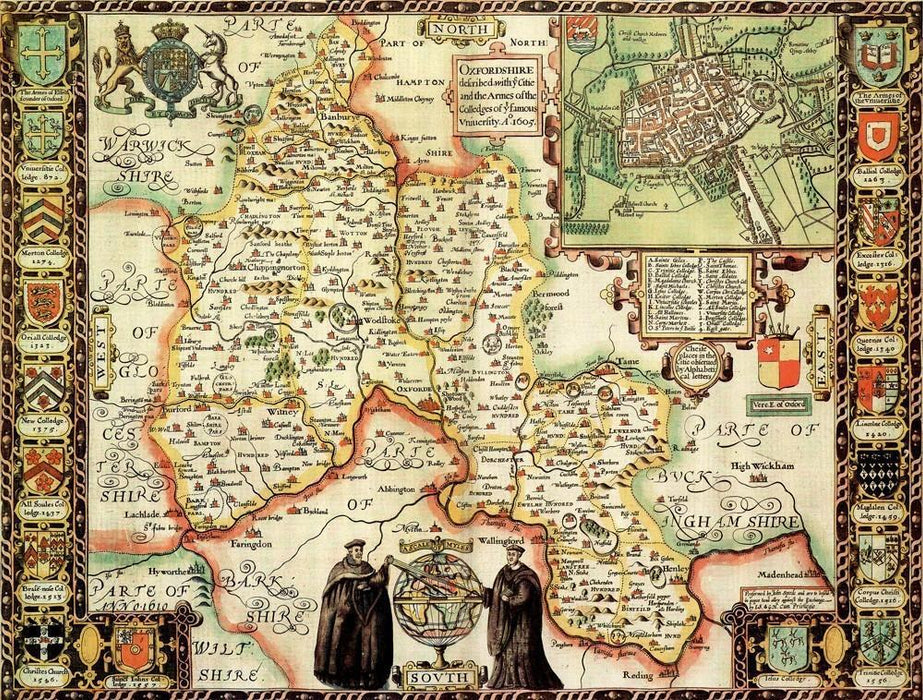 Map Of Uk Jigsaw.Oxfordshire Historical Map 1000 Piece Jigsaw Puzzle 1610