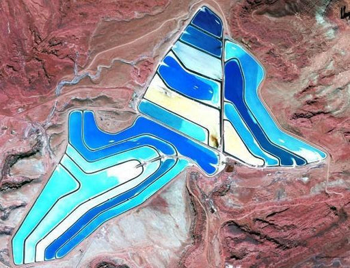 Potash Evaporation Ponds, USA  500 Piece Awesome Aerial Jigsaw Puzzle - All Jigsaw Puzzles UK  - 1