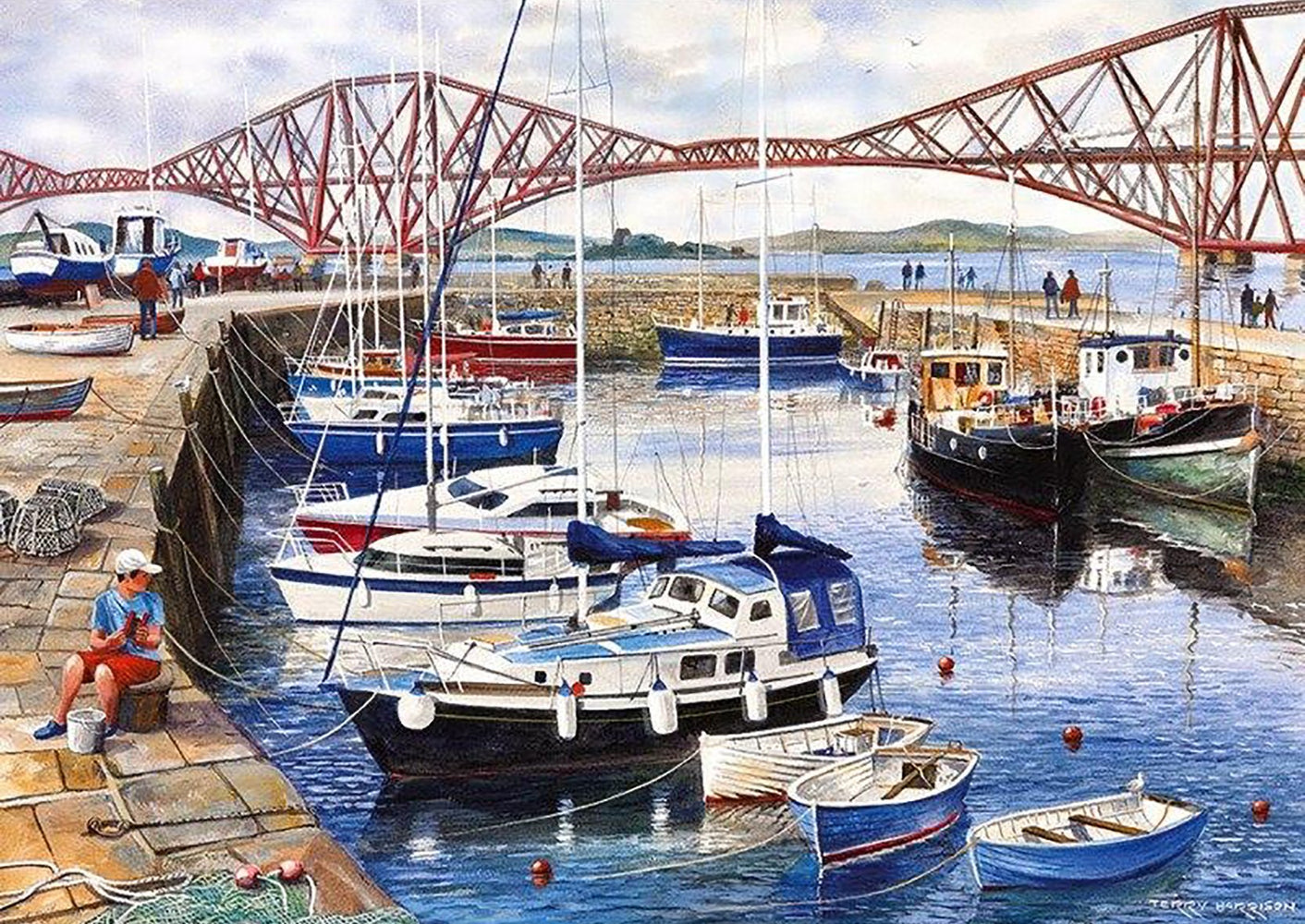Queensferry Harbour, 1000 piece Jigsaw Puzzle