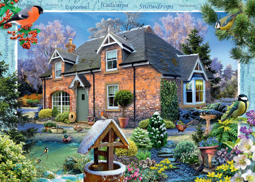 Jigsaw Puzzle - Snowdrop Cottage - Country Cottage Collection 1000 Piece Jigsaw Puzzle