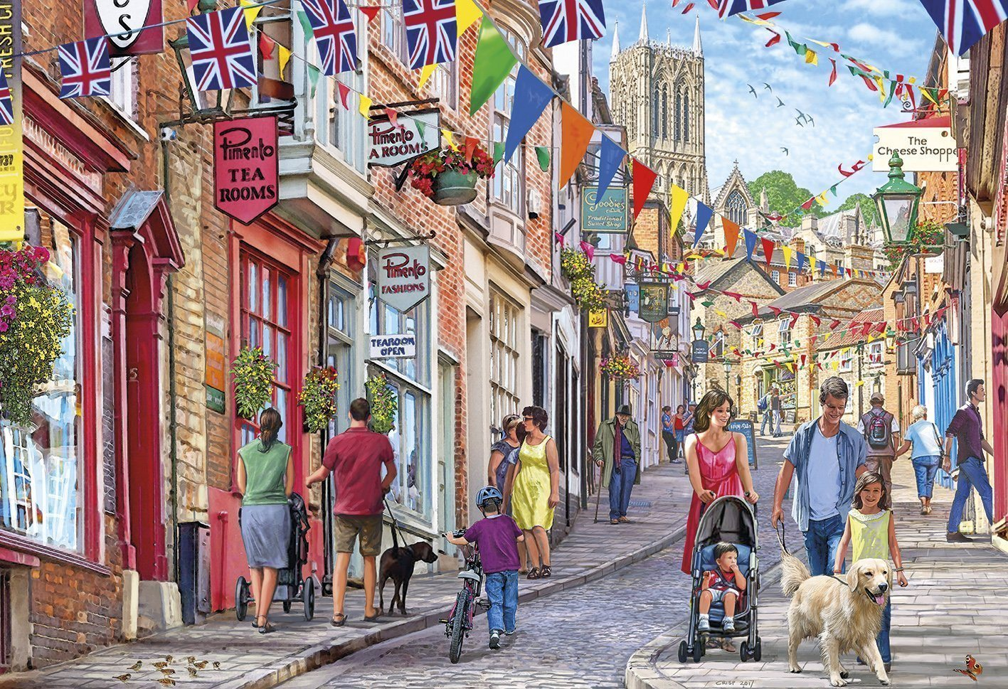 Jigsaw Puzzle - Steep Hill 1000 Piece Jigsaw Puzzle