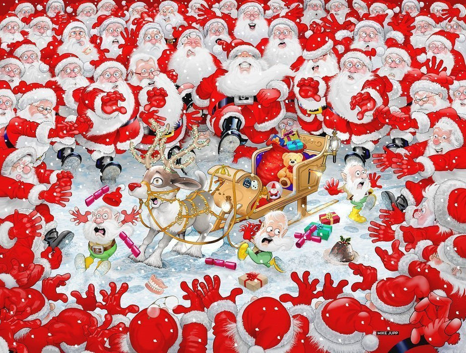 The Christmas Scramble by Mike Jupp 1000 or 500 Piece Jigsaw Puzzle