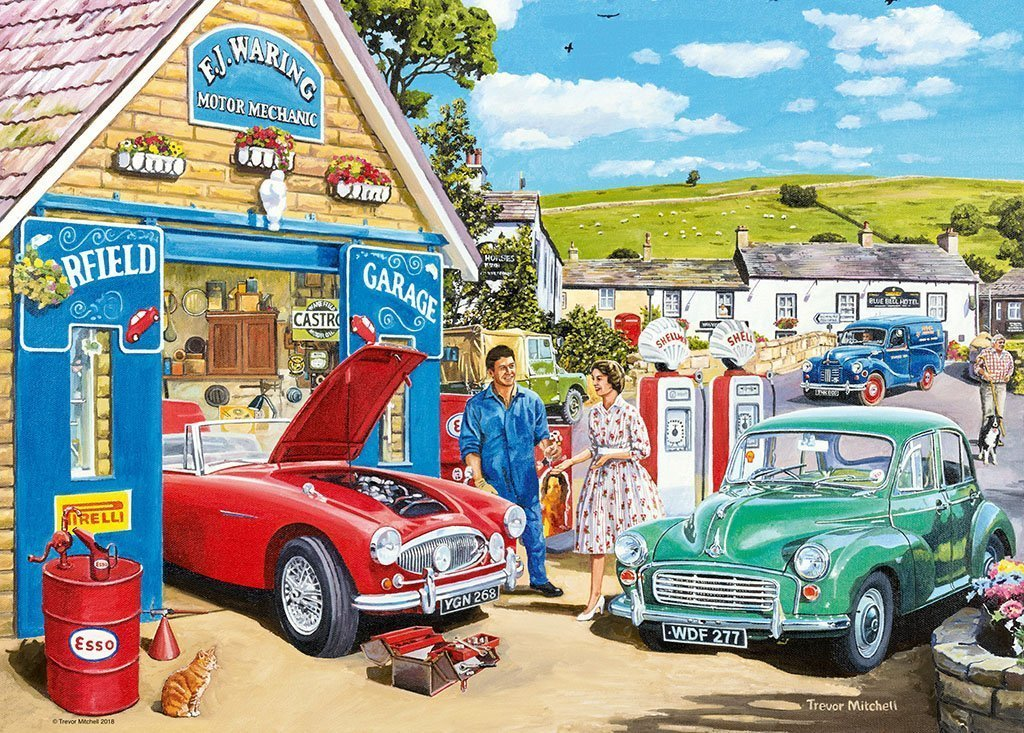 Jigsaw Puzzle - The Country Garage 1000 Piece Jigsaw Puzzle