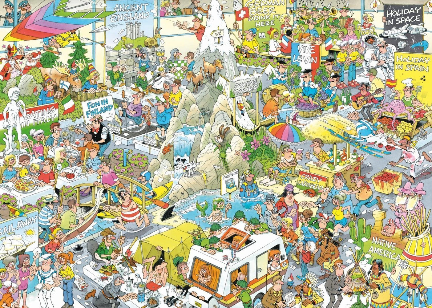 Jigsaw Puzzle - The Holiday Fair - Jan Van Haasteren 1000 Piece Jigsaw Puzzle
