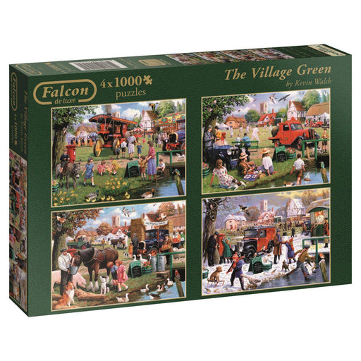 The Village Green 4 x 1000 Piece Jigsaw Puzzle - All Jigsaw Puzzles UK  - 1