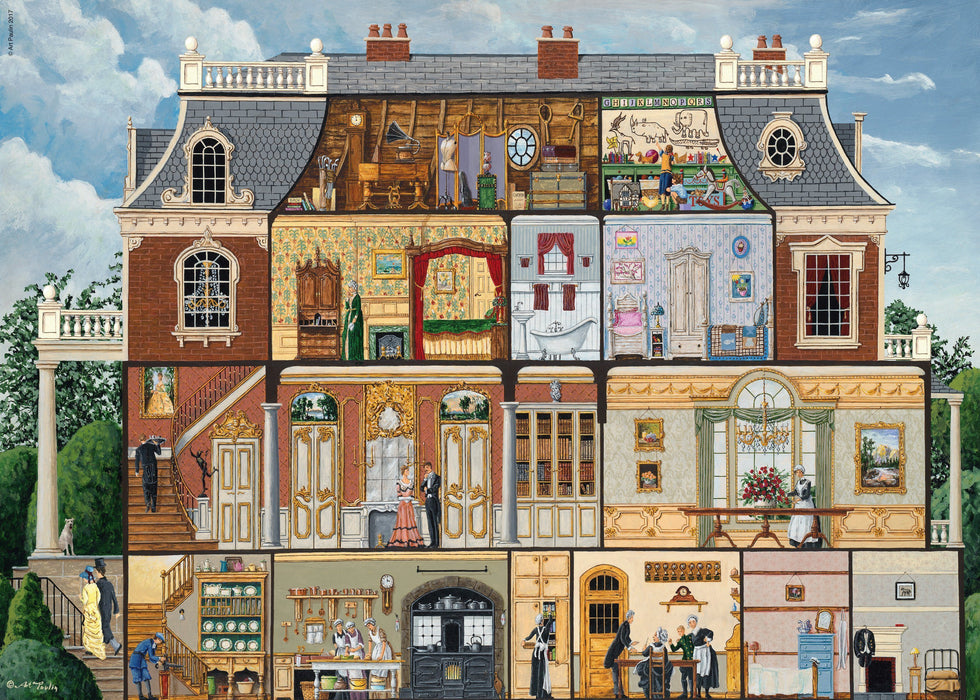 Jigsaw Puzzle - Upstairs, Downstairs 1000 Piece Jigsaw Puzzle