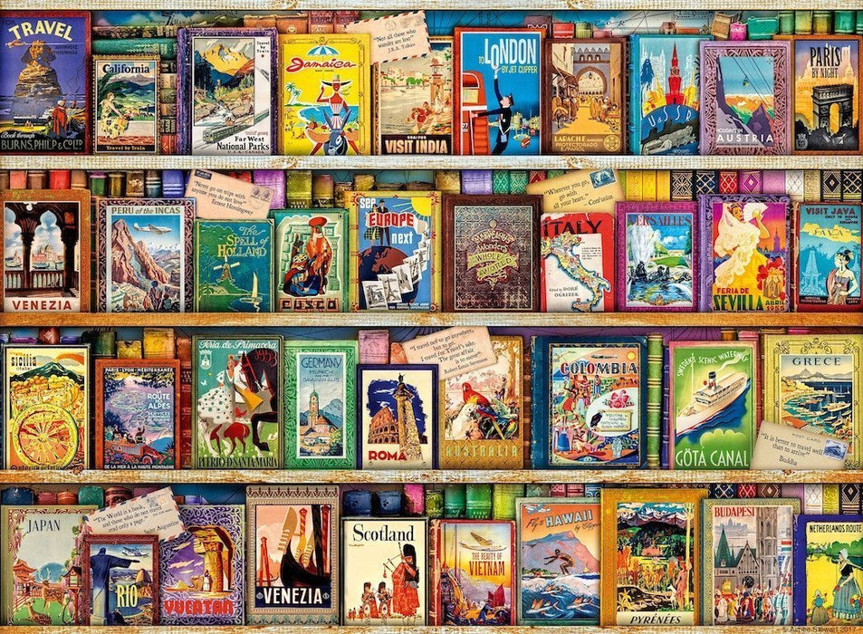 Jigsaw Puzzle - Vintage Travel Guides 500 Piece Jigsaw Puzzle